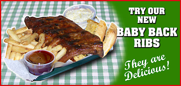 TRY GATORS BABY BACK RIBS